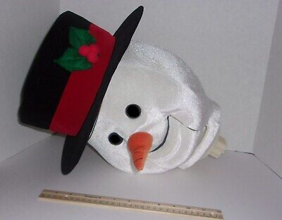 Lifesize Gemmy Animated Snowman Replacement Head Part PLEASE READ RARE