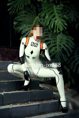 Hot Sale Latex 100% Rubber Gummi Ganzanzug Catsuit Suit Cosplay uniform XXS-XXL