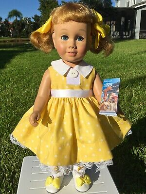 8pc Vintage Chatty Cathy Doll  dressed as Gabby Gabby Dress Set. DOLL INCLUDED