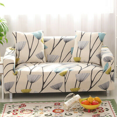 Sofa Cover Stretch Elastic Couch Slipcover Pet Dog Protector 3 Seater Dandelion