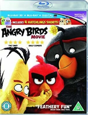 The Angry Birds Movie 3D+2D Blu-Ray [Uk] New Bluray