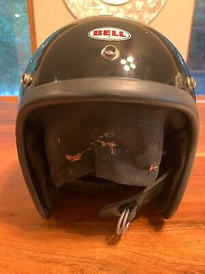 Vintage Beautiful '79 Bell Magnum Mag Iii 3 Motorcycle Car Racing Helmet Black