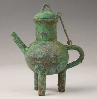 Unique Chinese Old Bronze Handmade Casting Teapot Decorative Gift Collection