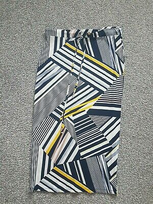G5 Ladies Dorothy Perkins Multi Patterned Stretch Long Straight Skirt Size 12