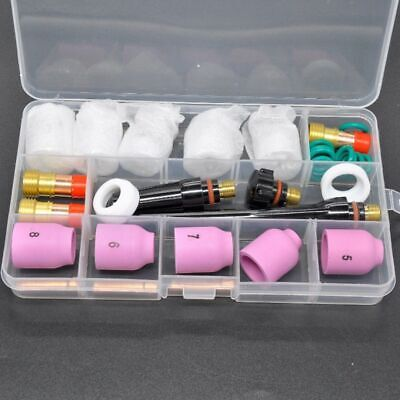 Glass Cup Kit TIG Welding Torch One set Accessories Gas Lens Professional Hot
