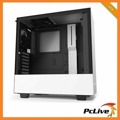NEW NZXT Matte White H510i Gaming Case Tempered Glass Window Quiet Mid Tower ATX
