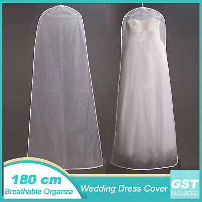 Large Organza Wedding Dress Cover Bridal Gown Breathable Moth Proof Garment Bags