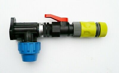 IBC ADAPTOR FITTING MDPE Water Pipe Compression Connector