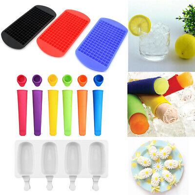 Silicone DIY Ice Cube Tray Frozen Ice Cream Mold Freezer Stick Maker Mould Sets