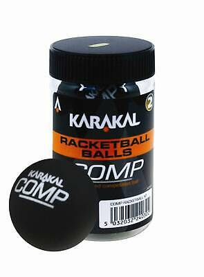 Karakal Comp Squash & Racketball Esr Approved Recreational Balls Black Tube Of 2