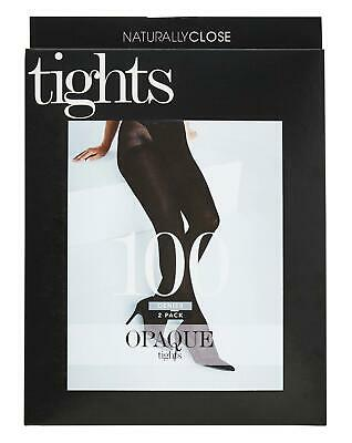 Womens Black Tights 2 Pack High Rise Naturally Close 100 Denier Opaque Simply Be