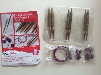 KnitPro Symfonie Wood Interchangeable Circular Chunky Needles Set , 9, 10, 12 mm