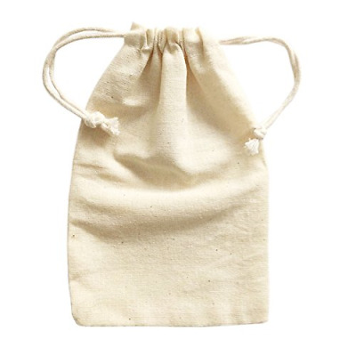 Doutop Small Cotton Drawstring Bags Natural Muslin Bag 6 Pack for Christmas Toys