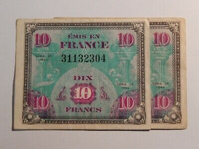 France 10 Francs Banknote - WWII Allied Military Currency