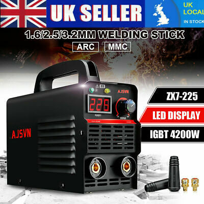 220V 20A-225A LCD Welding Inverter Machine MMA/ARC Stick Welder IGBT UK
