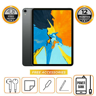 Apple iPad Pro 12.9in 3rd Gen 64GB 256GB 512GB 1TB Wi-Fi  All Colours Unlocked