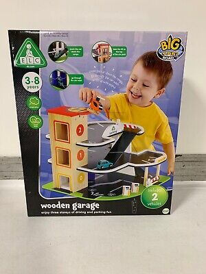 Elc Early Learning Centre Big City Wooden Garage Inc 2 Vehicles New Rrp 60