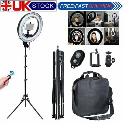 Fotoconic 40W 34cm Photo Video Ring Light Camera iPhone Holder with 185cm Stand