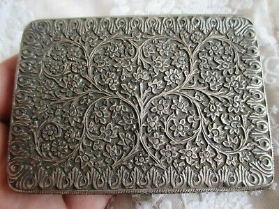 Stunning Antique Indian Persian Silver Kutch Cigarette Case - Acanthus Foliage