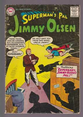 Jimmy Olsen # 18  Superbaby, Jimmy Olsen's Pal !  grade 4.0 scarce book !