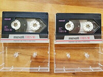 2 x Retro 1980s Maxell UDII-S 90 Cassette Tapes - great tape for Sony Walkman