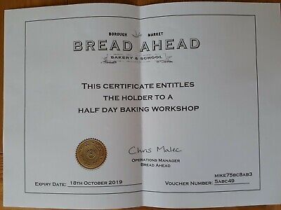 Borough Market Bakery School Gift Voucher