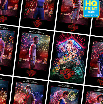 STRANGER THINGS Season 3 TV Series 2019 Wall Art Posters Prints | A4 A3 A2 A1 |