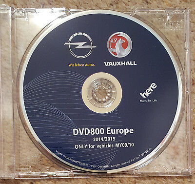 2015 Vauxhall Opel DVD800 MY2009/10 Sat Nav Disc Map Update For  Insignia, Astra