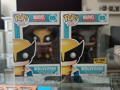 Funko POP! Marvel Wolverine Set - Brown Suit & X-Force Hot Topic Exclusive