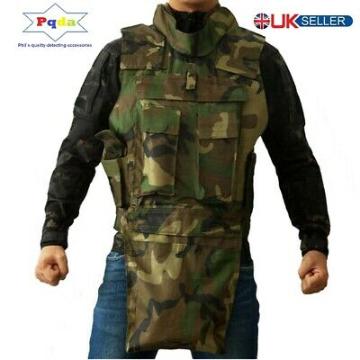 Metal Detecting Finds, Lightweight, 7 x Pockets Utility Vest & Finds Pouch Camo.
