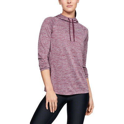 Under Armour Womens Tech 2.0 Twist Hoodie - Red Sports Gym Hooded Breathable