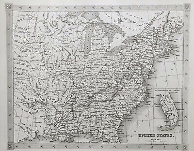 1842 ANTIQUE MAP; United States of America - Alexander Findlay
