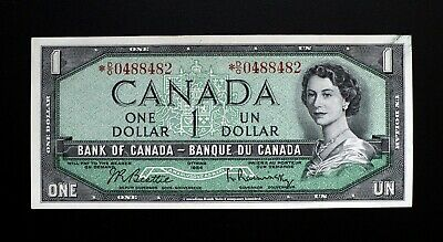 1954 BANK OF CANADA $1 Dollar Rare Replacement Note *D/O 0488482  BC-37bA