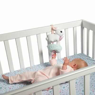 Manhattan Lullaby Bunny Pull Musical Crib and Baby Toy