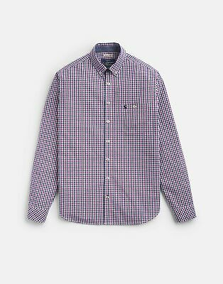Joules 207014 Long Sleeve Classic Peached Poplin Shirt in ROSE GINGHAM