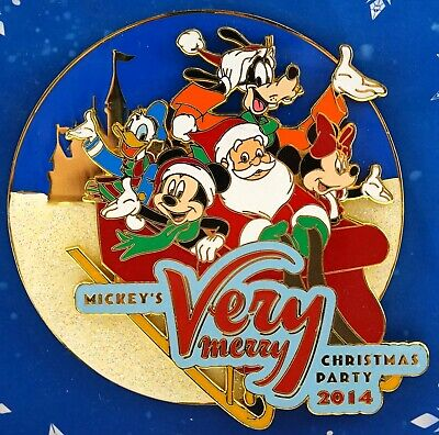 New Disney Parks Mickey's Very Merry Christmas Party 2014 Jumbo Pin LE 500