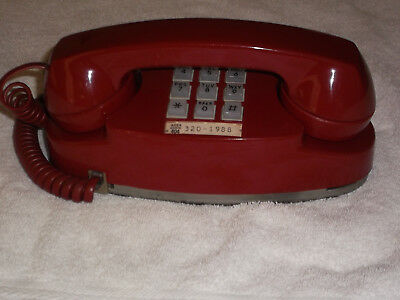 Rare Red Western Electric Bell System Princess Touchtone Phone Pristine (2702Bm)