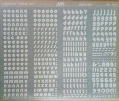 Mecanorma WHITE Letter & Number Transfers CHURCHWARD GALAXY BOLD 13mm #145-48.0