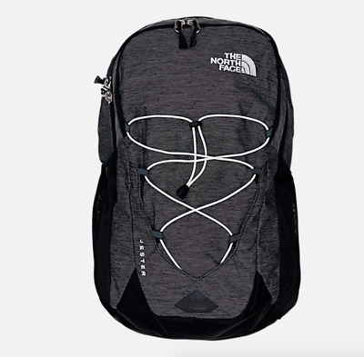 The North Face Unisex Black Heather Jester Camping / Hiking Backpack Bag