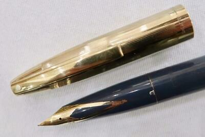 Sheaffer Imperial Viii Touchdown, Grey With Gold Cap, Fountain Pen, C1960
