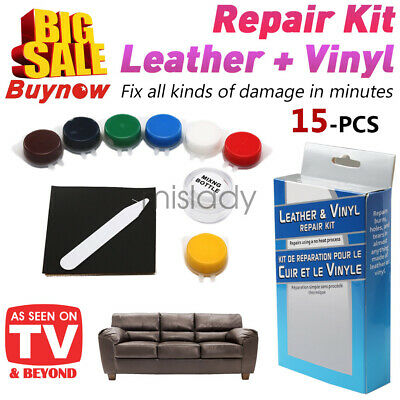Leather and Vinyl Repair Kit Fix Holes Rips Upholstery Clothing DIY