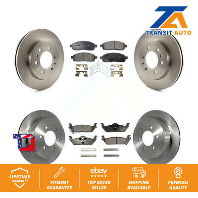 Front Rear Disc Brake Rotors And Ceramic Pads Kit 2009 Ford F-150
