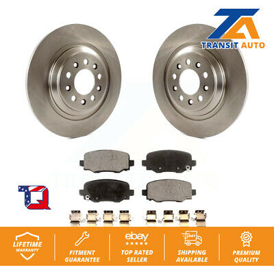 Rear Disc Brake Rotors And Ceramic Pads Kit For 2014-2019 Jeep Cherokee