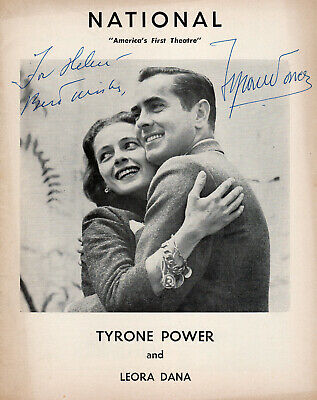 Extraordinarily Handsome & Talented Tyrone Power Autograph, A Quiet Place 1955