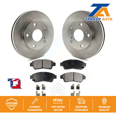 Front Disc Brake Rotors And Semi-Metallic Pads Kit Toyota Camry