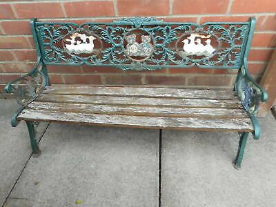 Stupendous Lovely Childrens Cast Iron Garden Bench Very Ornate Needs Short Links Chair Design For Home Short Linksinfo