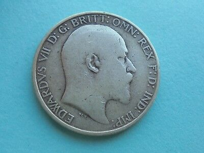 Edward VII, Two Shillings (Florin), 1907 in Reasonable Condition.
