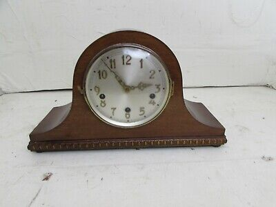 Antique Westminster Chime Mantel Clock With Jeweled Platform Escapement Working