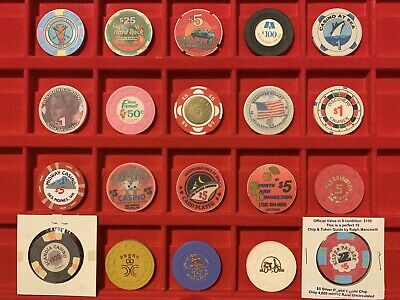 Lot Of 20 Casino Chips Fremont Gold Club Silver Palace Uncirculated Mills Hard R