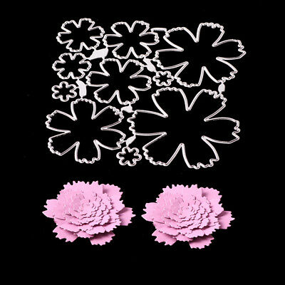 CO_ CO_ Flower Cutting Dies Stencil Scrapbook Paper Cards Craft Embossing Die-Cu
